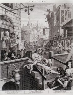 Gin Lane, Engraving, William Hogarth, 1751, British Museum, London  https://www.artexperiencenyc.com/social_login/?utm_source=pinterest_medium=pins_content=pinterest_pins_campaign=pinterest_initial