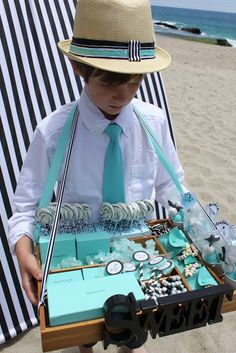 "Tiffany & Co. ""Beach Glam"" theme party (for kids, but some ideas are cute and transferable to adults)"