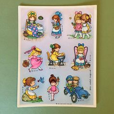 1984 Hallmark Joan Walsh Anglund Stickers | Vintage | 3 Sheets | Girls, Happy, Activities, 80's, Classic