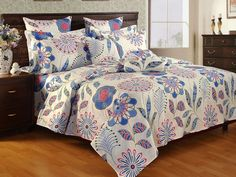 Pleasing Bed Sheet   Every bedroom decor of your home will be thrilled with pleasing affect of this bed linen. The 100% cotton Pigment Print set consists of one double bed sheet and two pillow covers.SKU : AH13SAB7-118MATERIAL : 100% CottonTHREAD COUNT : 144 Per InchesCOLOR : MultiBRAND : Salona BichonaSTYLE :