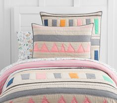 Margherita Missoni for Pottery Barn Kids Linen Patchwork Quilted Bedding