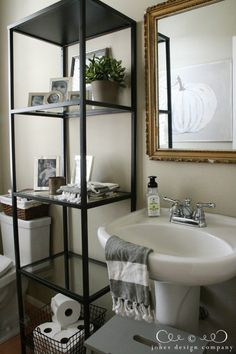 jones design company fall house tour (small bath)