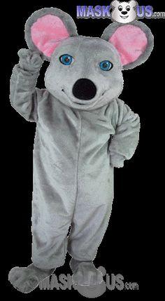Evil Sewer Rat Rodent Grey Plush Mascot Halloween Costume Adult Std Size Animal