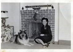 Vintage Photo..Betty's Christmas 1950's, Original Photo, Old Photo Snapshot, Vernacular Photography, American Social History Photo by iloveyoumorephotos on Etsy