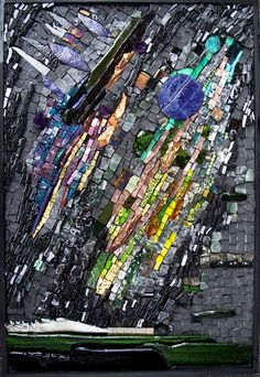 Green Fire | Sophie Drouin    // Perhaps my favorite abstract mosaic EVER. //