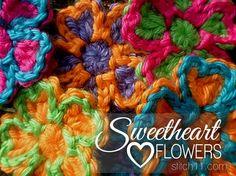sweetheart-love-flowers free pattern