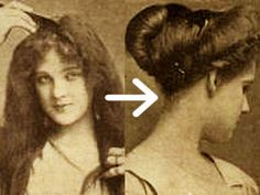 Create the classic Downton Abbey Edwardian Hairstyle – Pompadour with Psyche knot -  in 8 Simple Steps! …