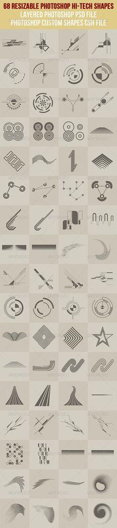 68 Photoshop Hi-Tech Shapes - http://graphicriver.net/item/68-photoshop-hitech-shapes-1/2628409?ref=cruzine