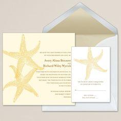 Imperial Starfish Wedding Invitation   #exclusivelyweddings   #yellowwedding