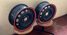 Steel wheel for Mazda.
