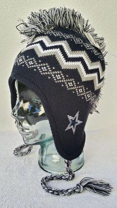 02d51bbb49f Dallas Cowboys NFL Mohawk Cuffed Knit Hat Winter Cap NWT Over The Ears  NFL   DallasCowboys