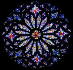 Stained Glass Scrap Afghan Pattern   Cathedral Rose Window Afghan Crochet Pattern