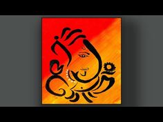 How to draw ganesha step by step / Acrylic / Easy Technique for Beginners Oil Pastel Paintings, Oil Pastel Art, Oil Pastel Drawings, Indian Art Paintings, Art Drawings Sketches Simple, Abstract Paintings, Easy Paintings, Easy Drawings, Mandalas