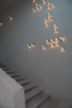 Lighting by PSLAB for India Mahdavi Architecture and Design on Les Alyscamps, Arles. Straight out of the wall.
