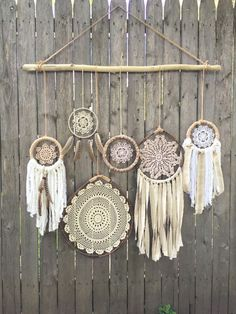 Daydreamer' Boho Chic Driftwood Doily Dreamcatchers Wall Hanging (111.00 USD) by FoundandFeathers: