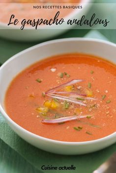 Le vrai gaspacho andalou - Recettes - The Best For Dinner Healthy Recipes Mexican Soup Recipes, Italian Dinner Recipes, Clean Eating Recipes For Dinner, Easy Soup Recipes, Rice Recipes, Raw Food Recipes, Indian Food Recipes, Healthy Dinner Recipes, Vegetarian Recipes