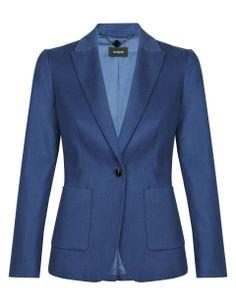 Pure Cotton 1 Button Blazer   M&S
