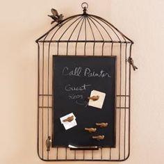 Birdcage Chalkboard