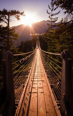 Sky Pilot Suspension Bridge by kohendormer Photo Awards, Suspension Bridge, Tumblr Wallpaper, Wallpaper Wallpapers, Grand Tour, Historical Sites, Time Travel, Paths, Egypt