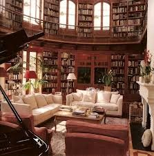 Would LOVE to have this massive library in my house. Stocking up on books: in progress.
