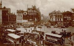 Piccadilly Circus and the London Pavilion 1930...look at all the signs...<3