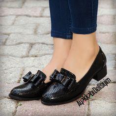 Siyah Fiyonklu Babet #flat #shoes #woman #trend