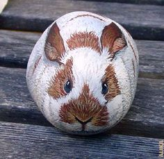 cute painted stone
