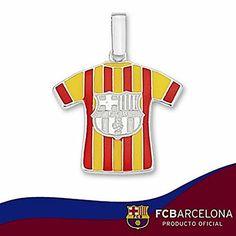 Camiseta escudo F.C. Barcelona Plata de ley segunda equipación  - Modelo: 10-142-2E #regalo #arte #geek #camiseta