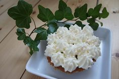 Banana cake with frosting