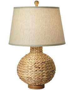 Pacific Coast Seagrass Bay Round Table Lamp $170