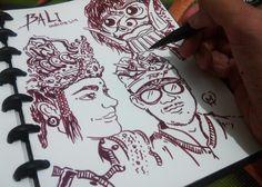 Bali Indonesia #ilustration #character