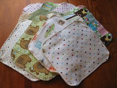 Odds N Ends Cloth Wipes Set Mixed Prints by MamaandNonni on Etsy, $12.00
