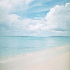 calm. blue. sea.