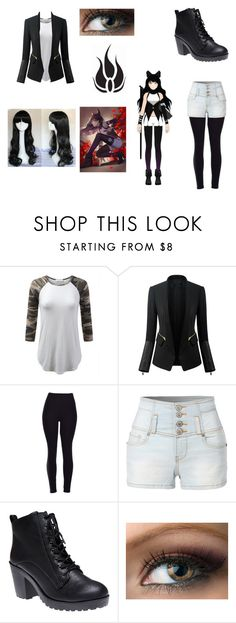 """""""Blake from RWBY"""" by pinkwig12 on Polyvore featuring Chicsense, LE3NO and Wet Seal"""