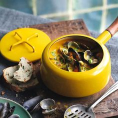 Serve this creamy seafood chowder, made with mussels and cockles, with plenty of crusty bread.