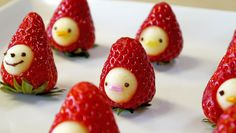 """How to make """" Strawberry Men"""" Moso-Style いちごマン 作り方"""