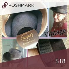 VINTAGE Brimmed Felt Hat Complete your Boho look with this stylish vintage felt brimmed hat. Has a brown patterned hat band. Good used condition. Pilgrim Accessories Hats