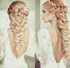 I love this wedding hairstyle