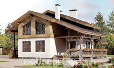 210-006-П Проект двухэтажного дома мансардный этаж, классический загородный дом из кирпича