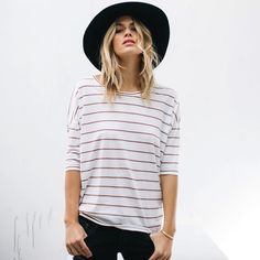 "New striped shirt the ""Sloan"" is an effortlessly casual wardrobe essential that empowers the woman who made it. Shop ethically made striped shirts and more."