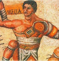 4th Century Villa Borghese mosaic
