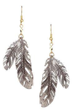 Love feather earrings