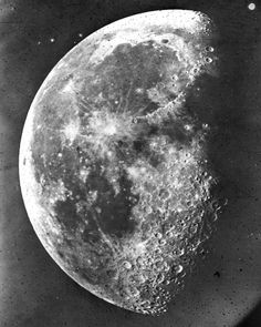The Moon photographed by Henry Draper in 1863