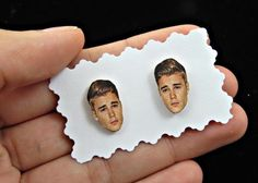 Justin Bieber earrings - justin bieber studs - celebrity earrings - face earrings - concert earrings - Fan Girl Gift Idea by CleopatraCandy on Etsy https://www.etsy.com/listing/385629648/justin-bieber-earrings-justin-bieber