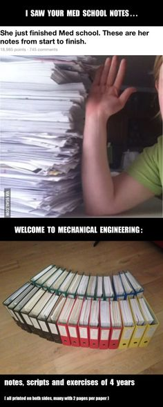 I saw your med school notes and raise you ENGINEERING...
