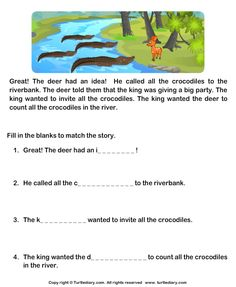 Download and print Turtle Diary's Read Comprehension Deer and Crocodiles and Answer the Questions worksheet. Our large collection of ela worksheets are a great study tool for all ages.