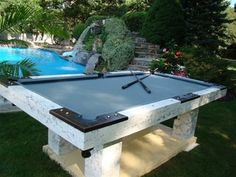 Heck why not make a concrete pool table for outdoors
