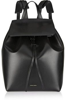 Minimal and Classic Style // Mansur Gavriel Black Leather backpack | NET-A-PORTER
