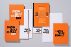 Logotype, print and stationery by Pentagram partner Dominic Lippa for London Design Biennale