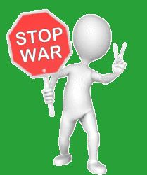 stop war go peace sign